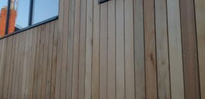 Shiplap cladding to an outbuilding