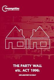 Party Wall Act information booklet