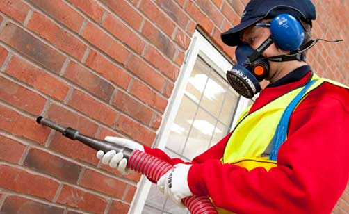 Injecting cavity insulation