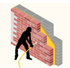 Injecting cavity wall insulation