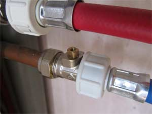 Isolation valve on cold water supply with tap missing