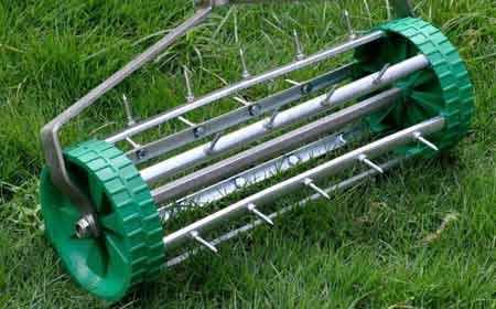 Grass aerator