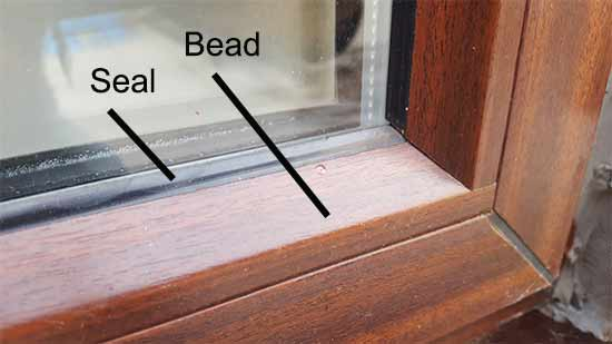 Bead and seal for double glazed unit