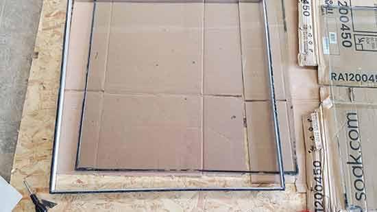 Spacer bars split from glazed unit