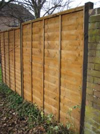 New panelled fence