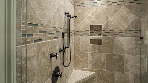 Concealed mixer shower