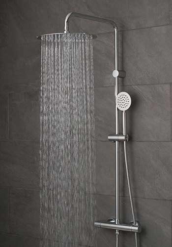 Exposed shower valve