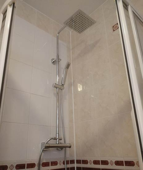 New mixer shower successfully installed