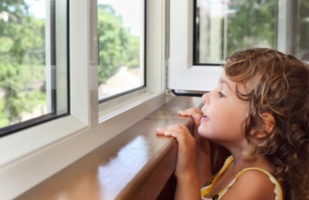 Make sure windows at a safe height