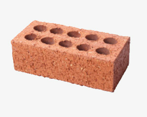 Perforated red clay brick