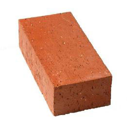 Solid red clay brick