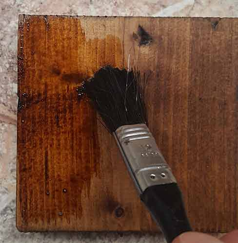 Applying wood stain over stain