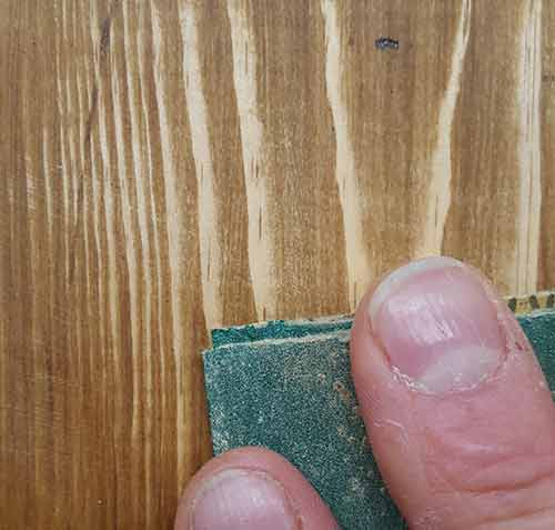 Sanding off top coat of stain