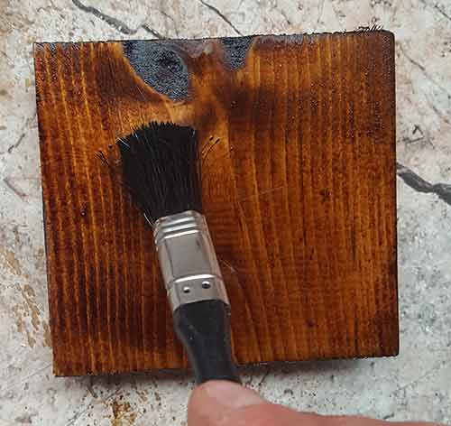 Varnishing over newly applied wood dye