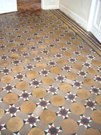 Traditional quarry tile floor with all lino removed