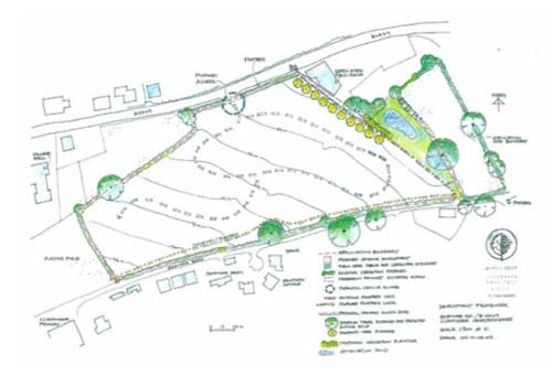 Plan of a building plot