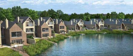 Coordinated properties built around lake