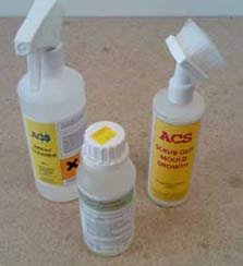 Treat any mould caused by your rising damp with an anti-mould cleaner