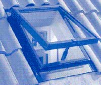 Roof window fixed into roof