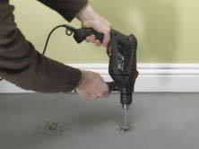 Drilling fixing holes