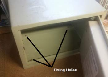 Fixing holes on safe