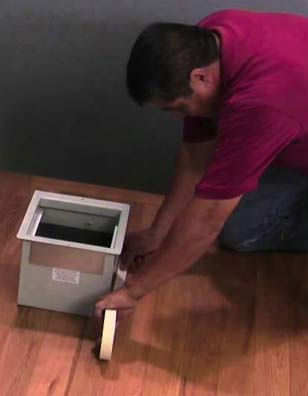 Fixing safe into floor