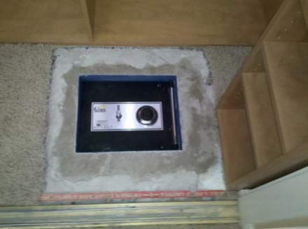 Safe installed in floor
