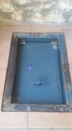 Under floor safe installed