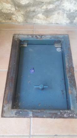 Under floor safe installed