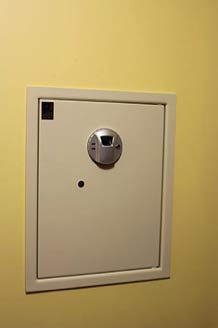 Completed wall mounted safe install