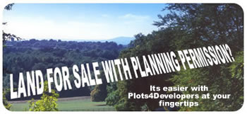 Land for sale with planning permission through plots for developers