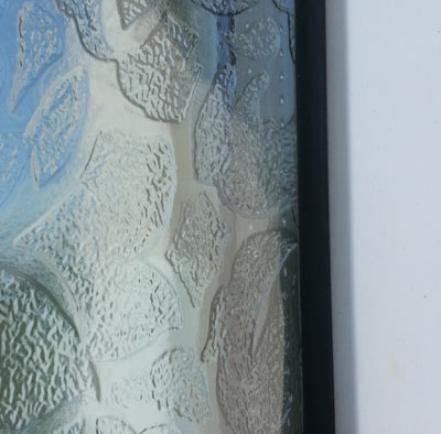 Paint splash removed from PVCu door glazing