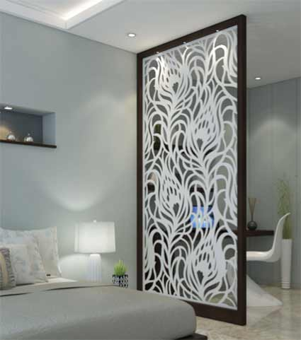 Contemporary laser cut metal screen