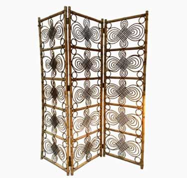 Vintage 1960's bamboo screen
