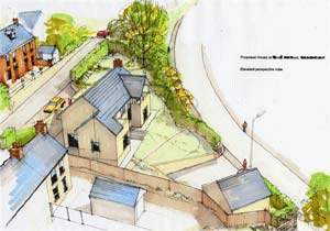 Artists impression of a self build property