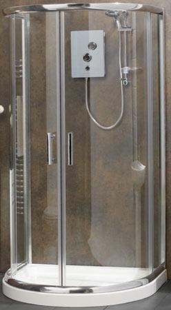 Standard D-shape shower enclosure