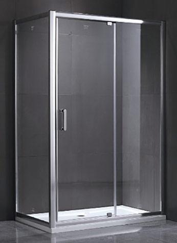 Rectangular shower enclosure