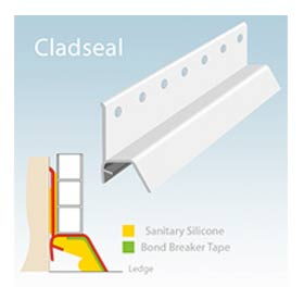 Cladseal shower and bath waterproof trim