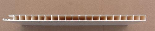 Aquabord hollow core shower panel