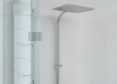 Gloss white Aquabord shower panel