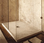 Large stone resin shower tray