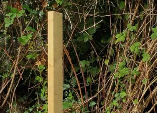 Sloping fence posts tops preserve the post longer