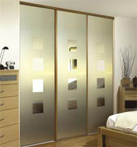Glass sliding wardrobe doors
