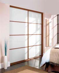 Material based sliding wardrobe doors