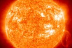 Closeup image of the sun