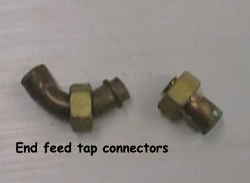 Copper end feed tap connectors