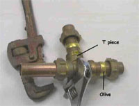 Unsightly compression joints which can be made easily using cold copper bonding