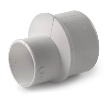 Solvent weld pipe reducer
