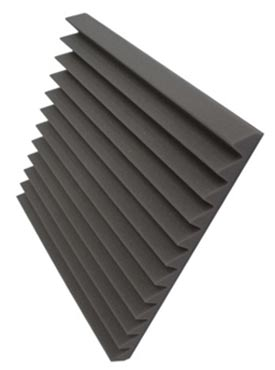 Acoustic foam tiles can reduce noise in workshops and studios