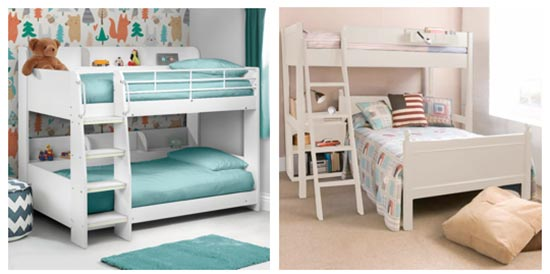 Different styles of bunk bed